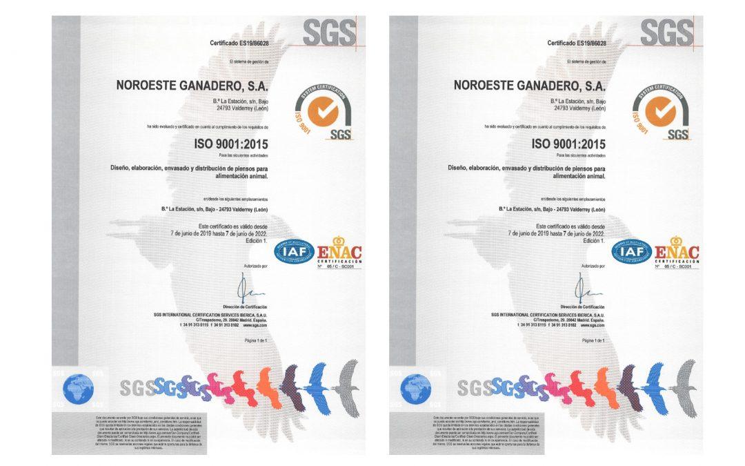 Renovación Certificación SGS
